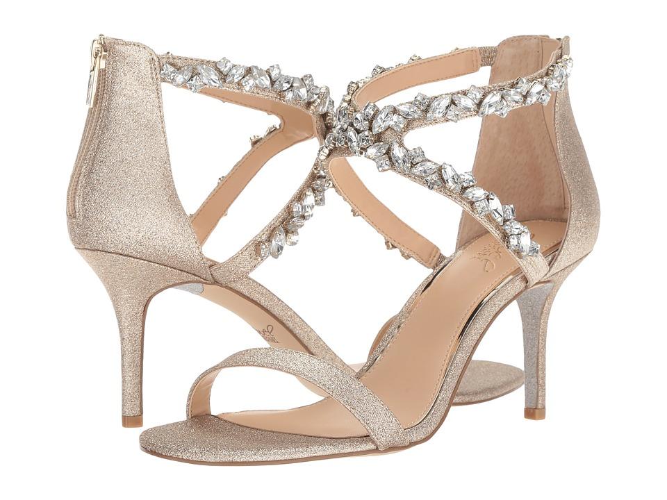 Jewel Badgley Mischka Jaylee (Light Gold) Women's Shoes