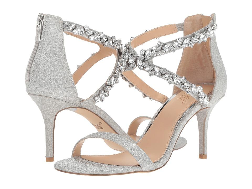 Jewel Badgley Mischka Jaylee (Silver) Women's Shoes