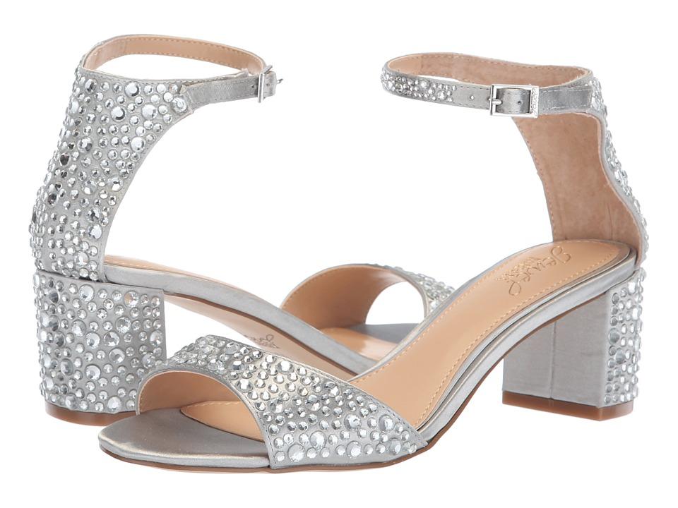 Jewel Badgley Mischka Jet (Silver) Women's Shoes