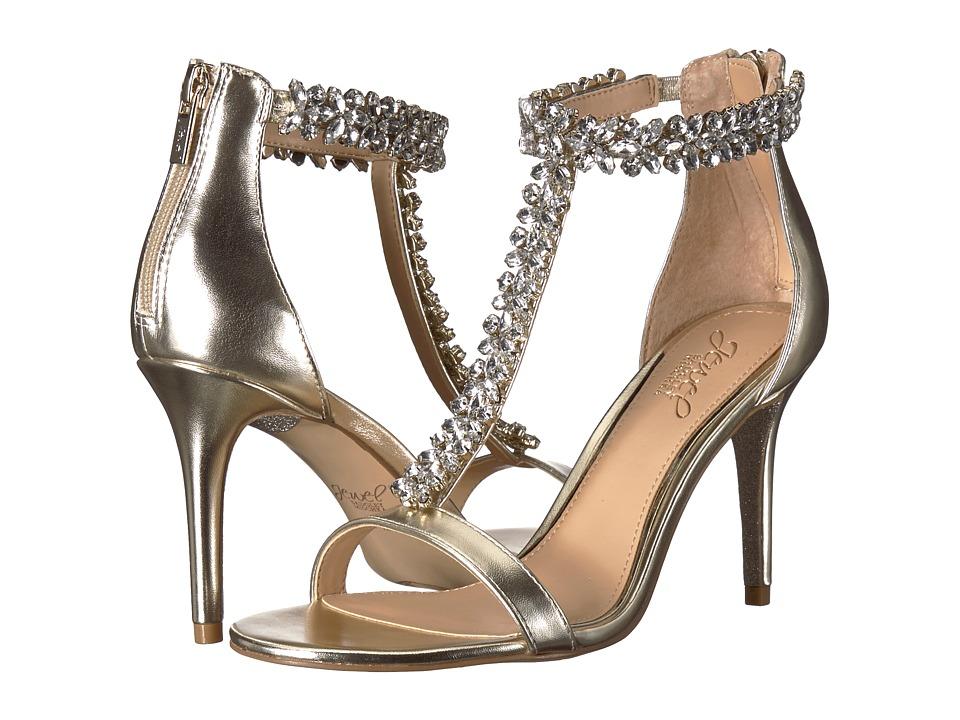 Jewel Badgley Mischka Janna (Light Gold) Women's Shoes