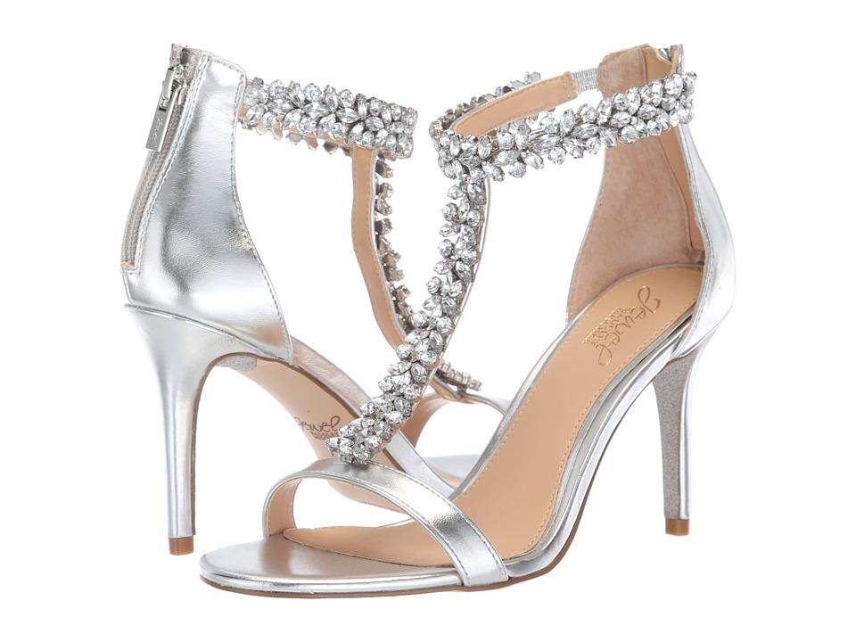 Jewel Badgley Mischka Janna (Silver) Women's Shoes