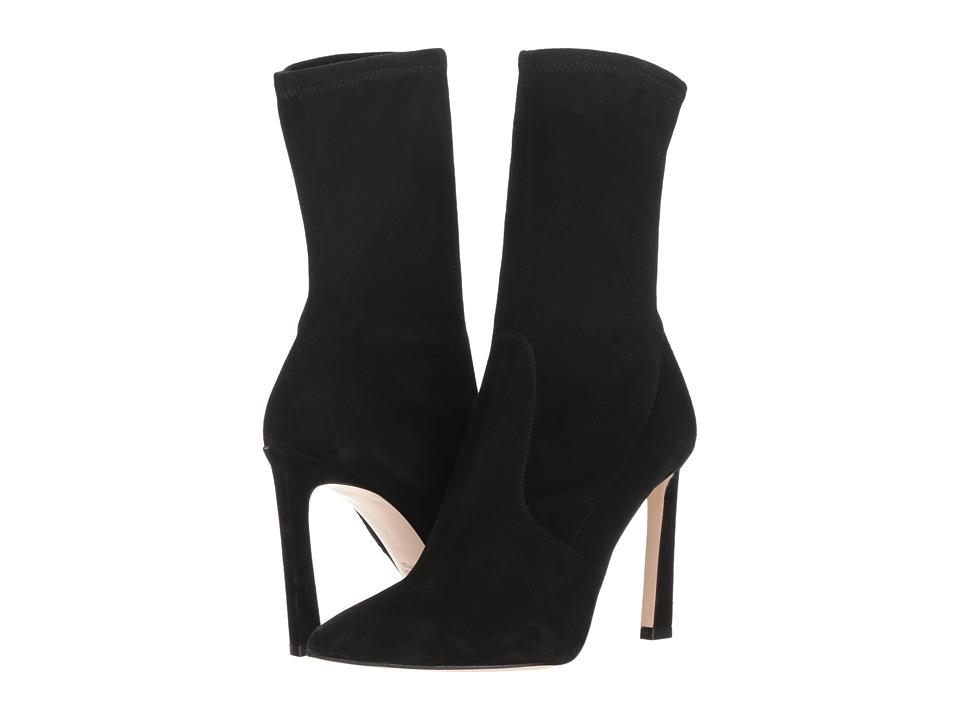 Stuart Weitzman Rapture 100 (Black Suede) Women's Shoes
