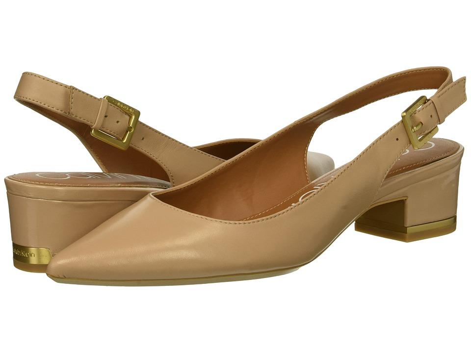 Calvin Klein Glorianne (Desert Sand Nappa) Women's Shoes