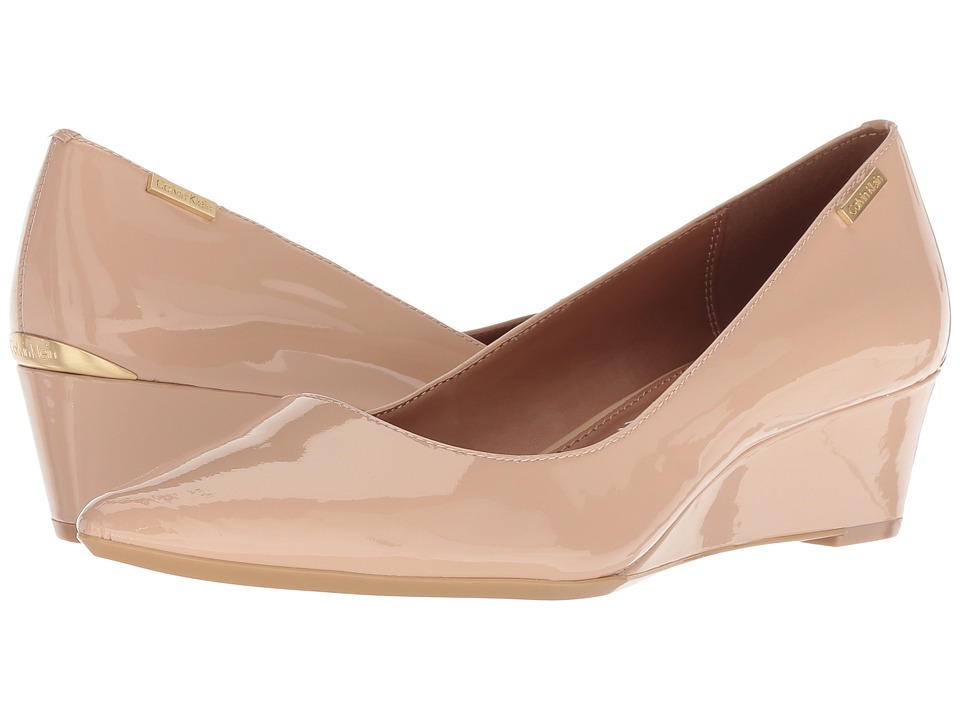Calvin Klein Germina (Desert Sand Patent) Women's Shoes