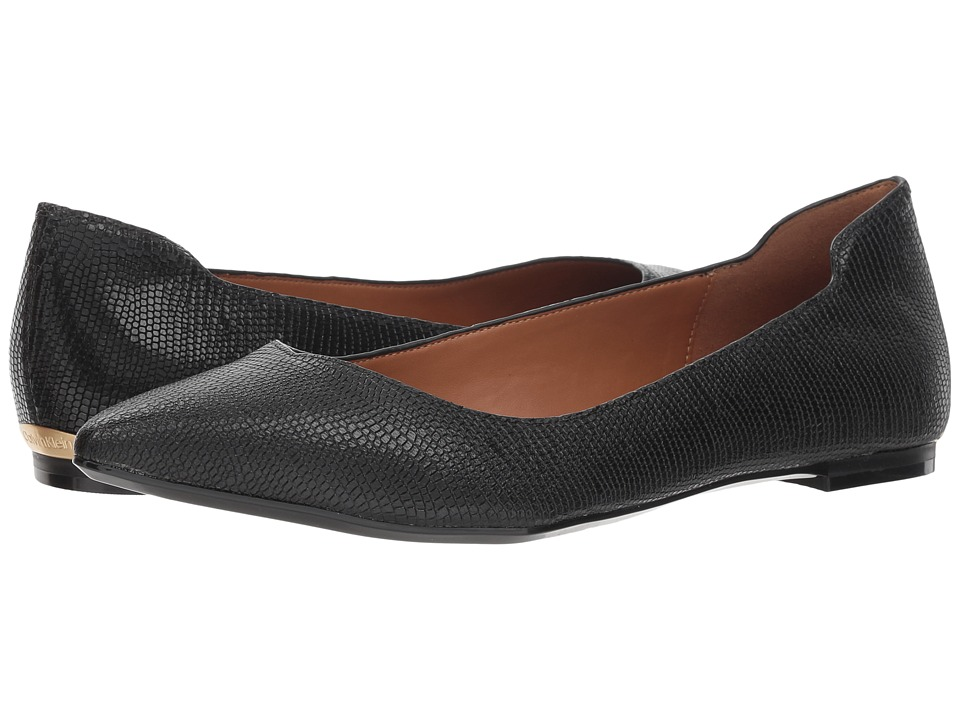 Calvin Klein Giannis (Black Shiny Lizard) Women's Shoes