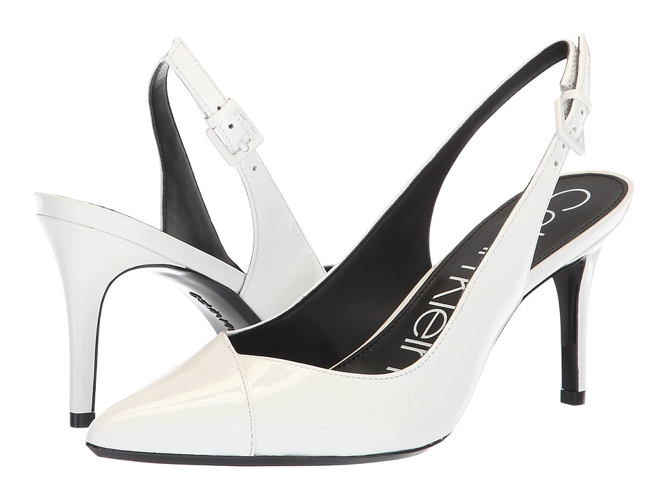 Calvin Klein Gwenith (Platinum White Patent) Women's Shoes