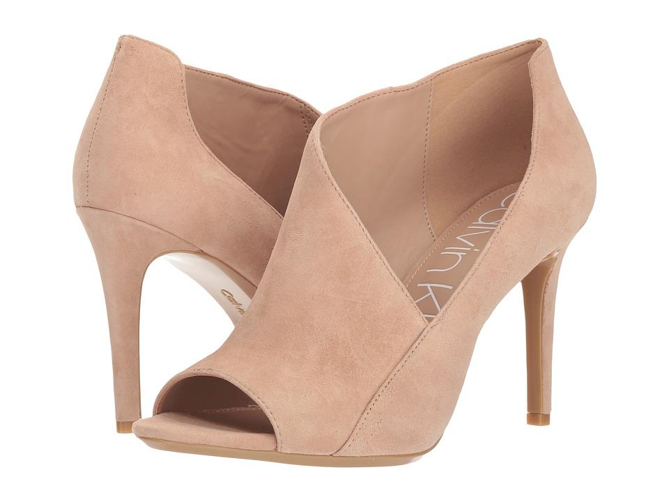 Calvin Klein Nastassia (Desert Sand Kid Suede) Women's Shoes