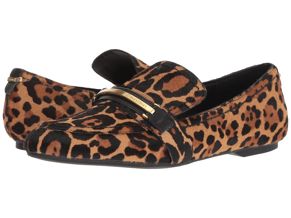Calvin Klein Orianna (Natural Cow Silk/Winter Leopard Haircalf) Maryjanes