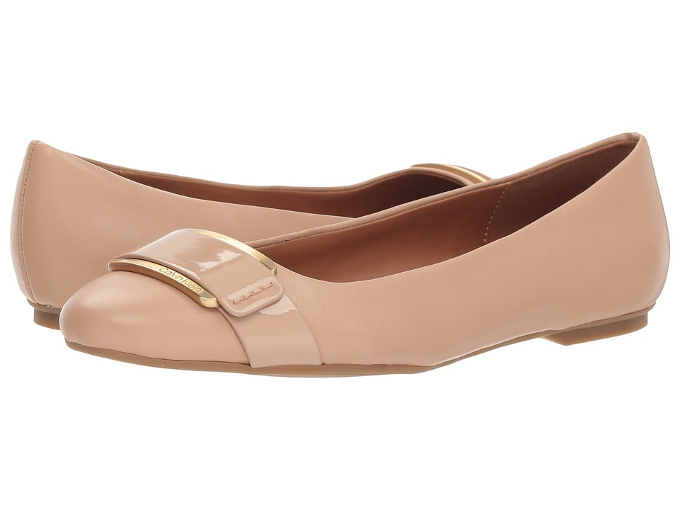 Calvin Klein Oneta (Desert Sand Nappa/Patent Smooth) Women's Shoes