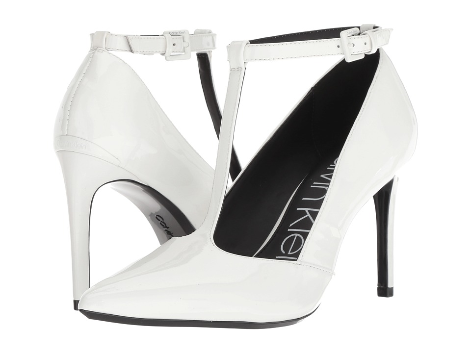 Calvin Klein Rocha (Platinum White Patent) Women's Shoes
