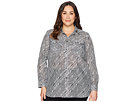LAUREN Ralph Lauren LAUREN Ralph Lauren Plus Size Silk Cotton Voile Long Sleeve Shirt