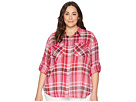 LAUREN Ralph Lauren LAUREN Ralph Lauren Plus Size Yarn-Dyed Pomegranete Plaid Long Sleeve Shirt