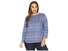 Extra Fresh by Fresh Produce Plus Size Stamped Geo Catalina Top