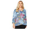 Extra Fresh by Fresh Produce Extra Fresh by Fresh Produce Plus Size Fresh Blossom Jordan Top