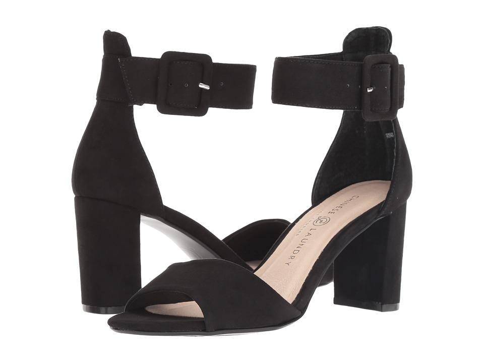Chinese Laundry Rumor (Black Microsuede) High Heels
