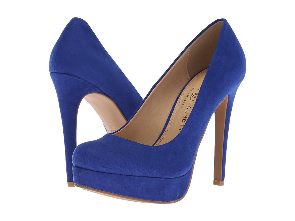 Chinese Laundry Wendy Pump (Club Blue Microsuede) High Heels