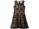 Us Angels Lace and Mesh Fit and Flare Dress (Big Kids)
