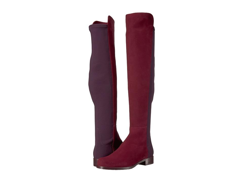 Stuart Weitzman 5050 (Cabernet Suede) Women's Pull-on Boots