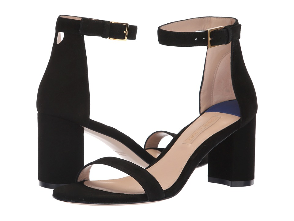 Stuart Weitzman 75lessnudist (Black Suede) Women's Shoes