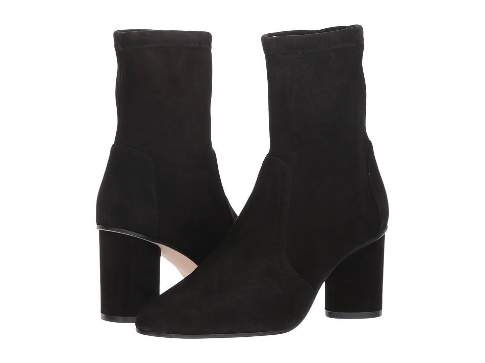 Stuart Weitzman Margot 75 (Black Suede) Women's Shoes