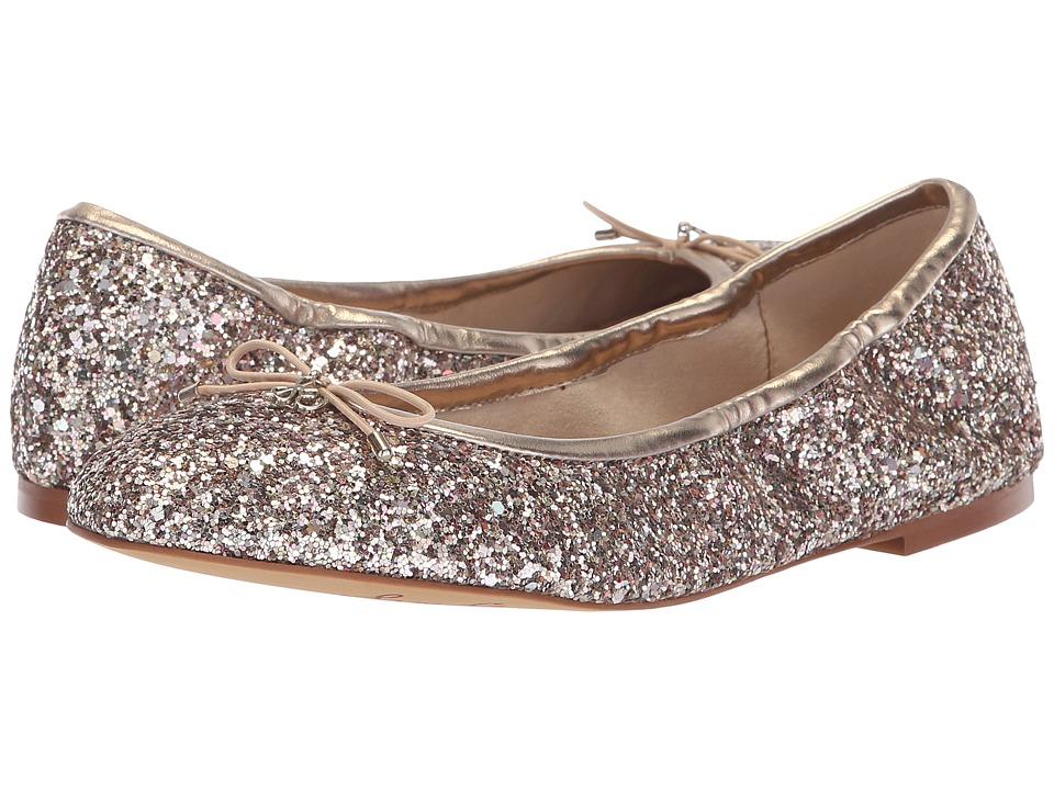 Sam Edelman Felicia (Molten Gold Chunky Glitter) Flats