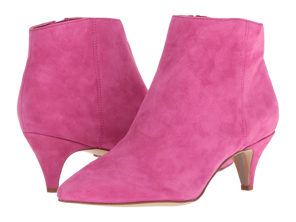 Sam Edelman Kinzey (Retro Pink Kid Suede Leather) Women's Dress Zip Boots