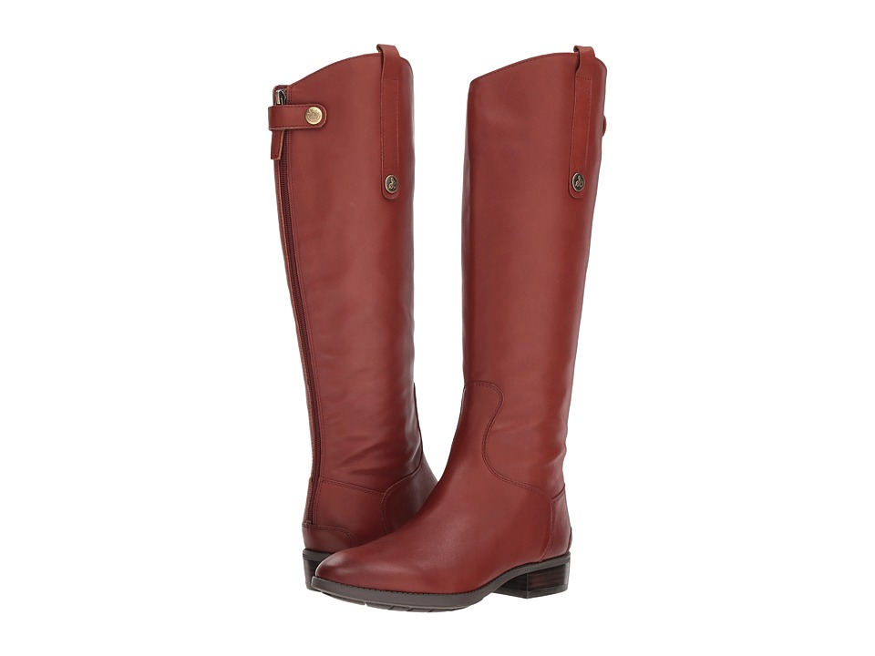 Sam Edelman Penny Leather Riding Boot (Redwood Brown Basto Crust Tumbled Leather)