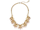 Betsey Johnson Betsey Johnson Blue by Betsey Johnson Pearl and Gold Tone Shaky Frontal Necklace