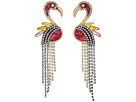 Betsey Johnson Betsey Johnson Lost Flamingo Statement Earrings
