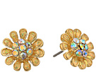 Betsey Johnson Betsey Johnson Blue by Betsey Johnson Yellow and Gold Tone Flower Stud Earrings