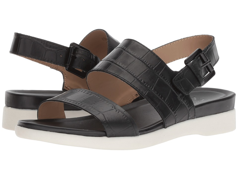 Naturalizer Emory (Black Crocodile) Sandals