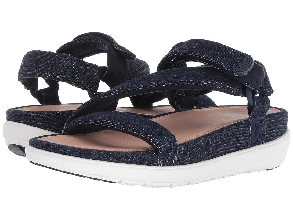 FitFlop Loosh Luxetm Z-Strap Denim Sandals (Dark Blue Denim) Sandals