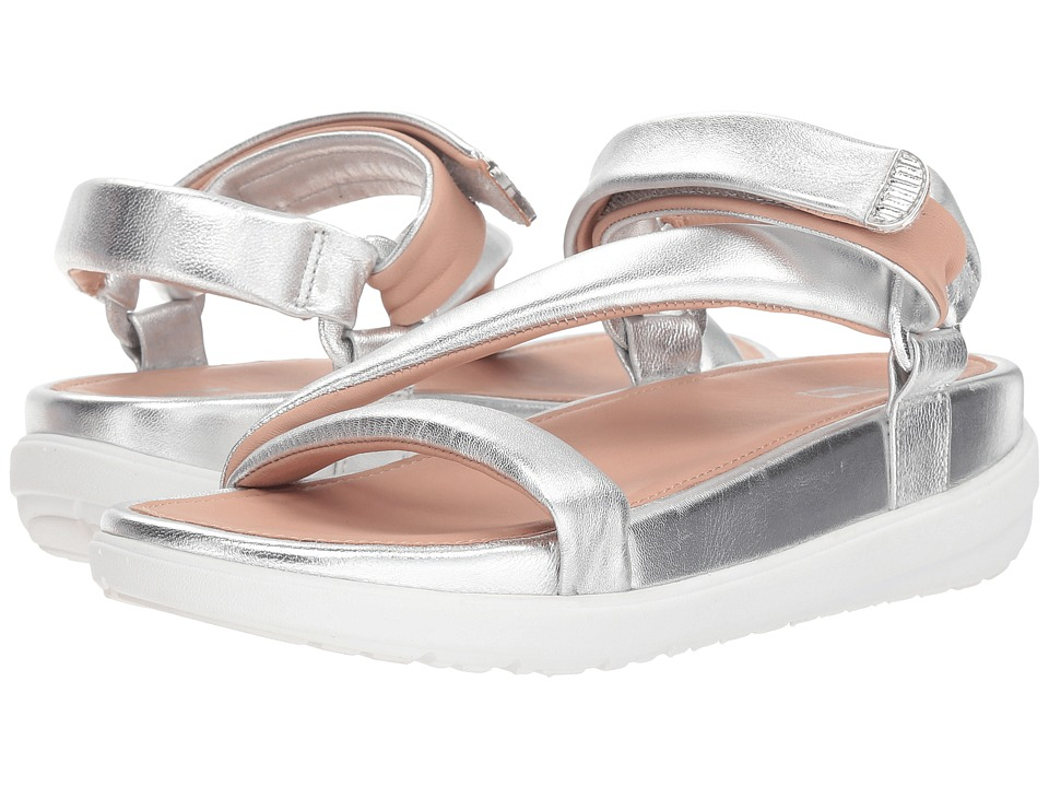 FitFlop Loosh Luxetm Z-Strap Leather Sandals (Silver Metallic Leather) Sandals