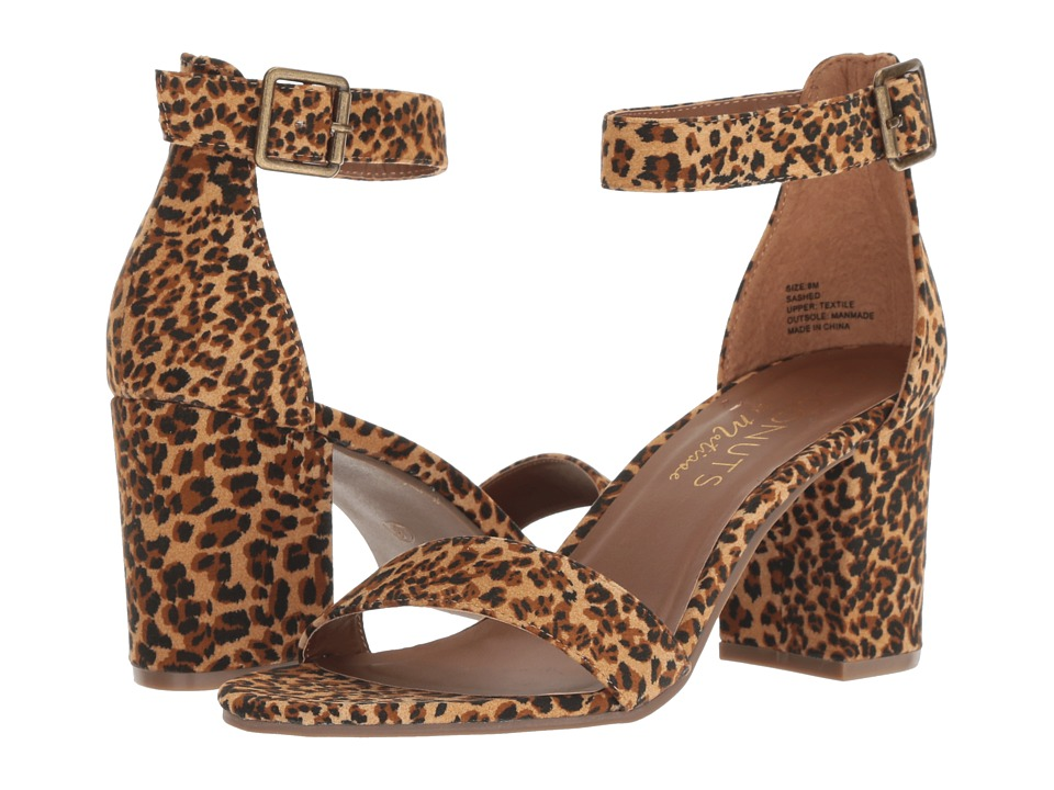 Matisse Coconuts by Matisse-Sashed Heel (Tan Leopard) Women's Shoes