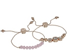 GUESS GUESS Two-Piece Slider Bracelet Set with Bead and Stone Accents