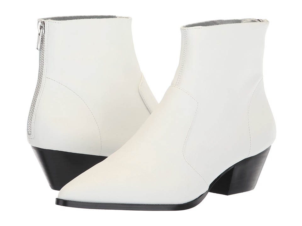 Steve Madden Cafe Bootie (White Leather)