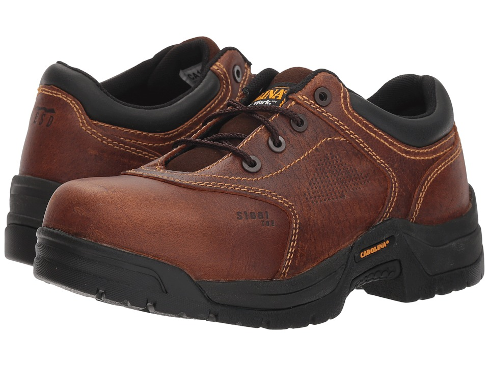 Carolina Reagan Oxford Steel Toe (Brown) Women's Shoes