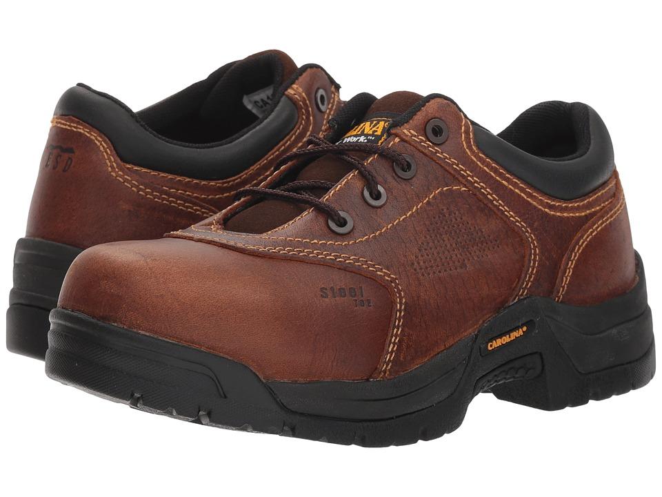 Carolina Reagan Oxford Steel Toe (Brown) Women's Shoes