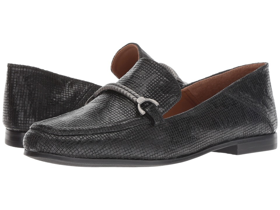 Patricia Nash Fia (Black Tooled Snake Leather) Women's Shoes