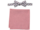 Tommy Hilfiger Gingham and Oxford Pre-Tied Bow Tie and Pocket Square Set