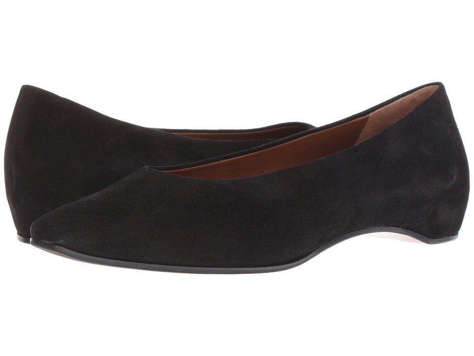 Aquatalia Mary (Black Suede) 1-2 inch heel Shoes