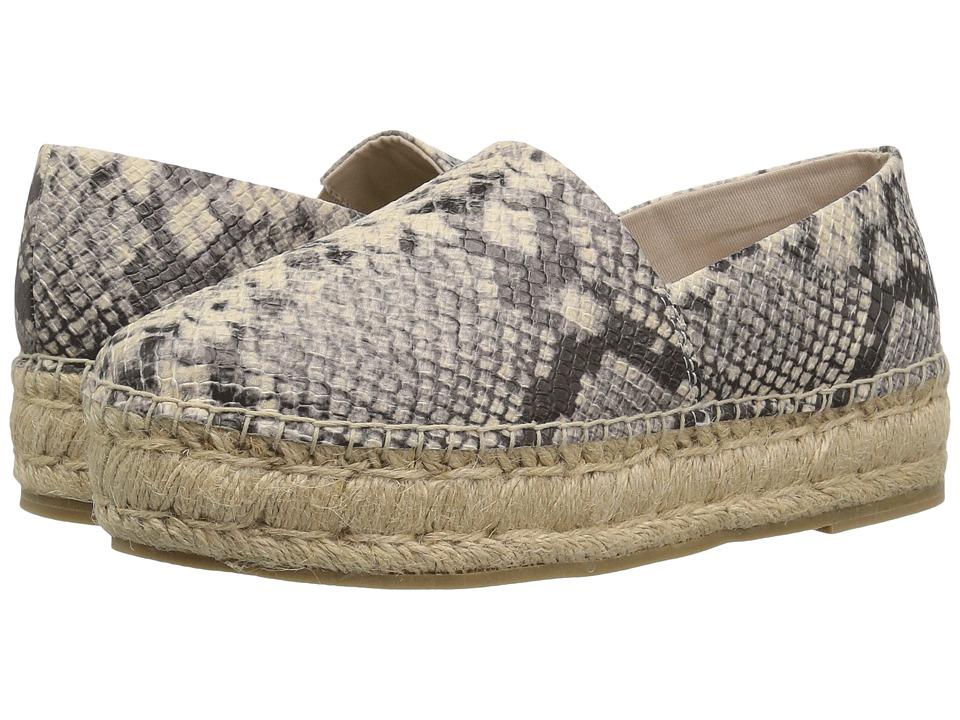 Steve Madden Prisila Espadrille Flat (Natural Snake) Women's Shoes