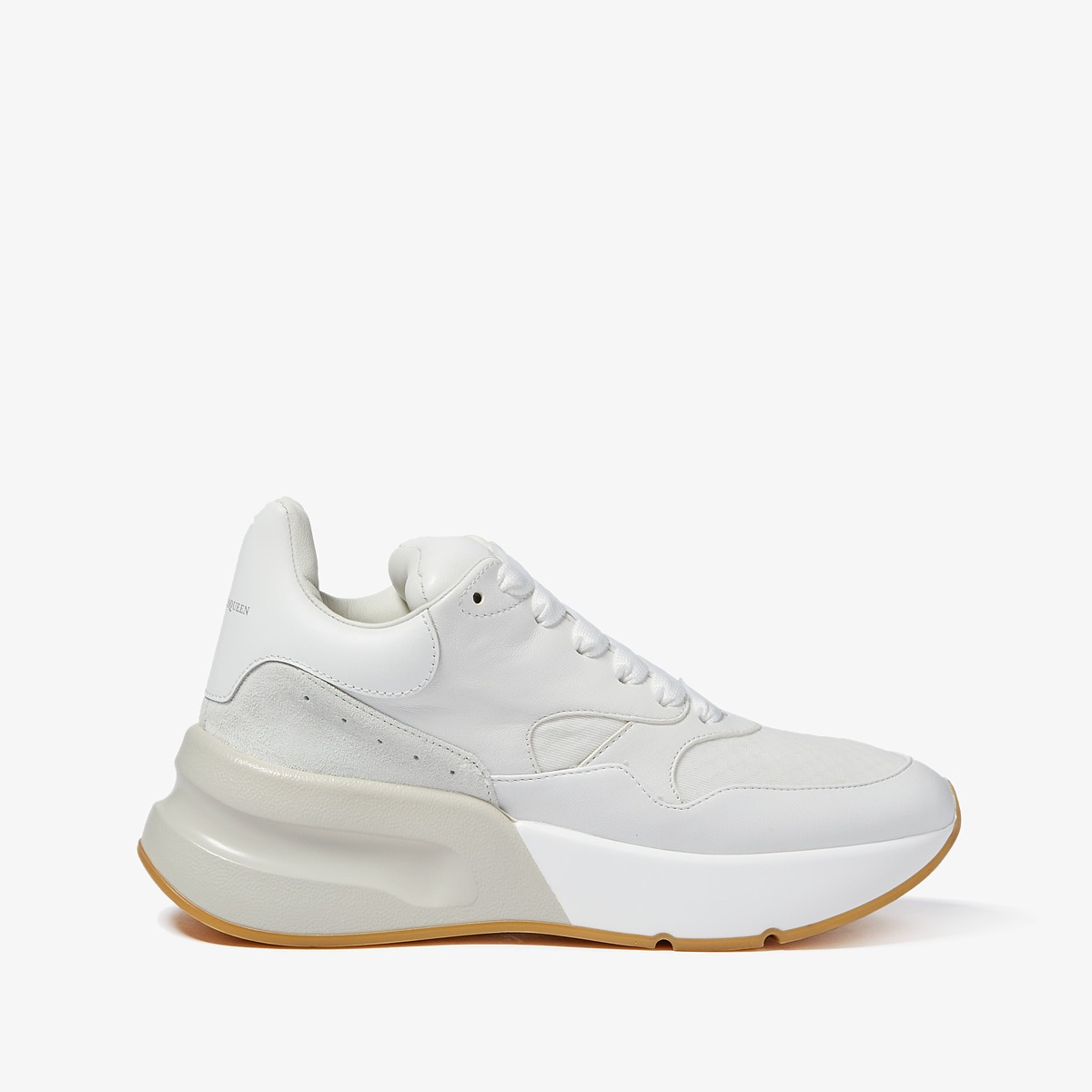 Alexander McQueen Oversized Runner Sneaker (White/Cream) Women's Shoes
