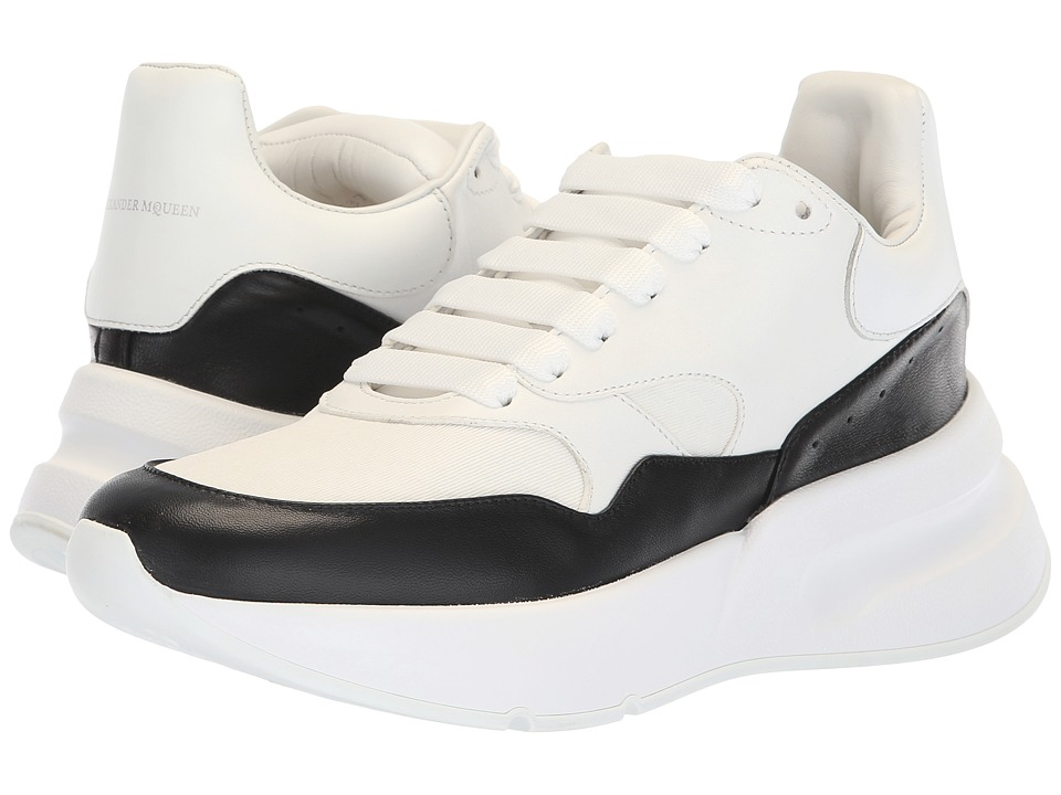 Alexander McQueen Oversized Runner Sneaker (White/Black) Women's Shoes