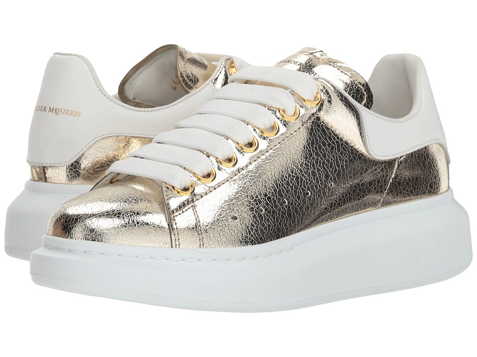 Alexander McQueen Oversized Sneaker (Gold/White) Women's Shoes