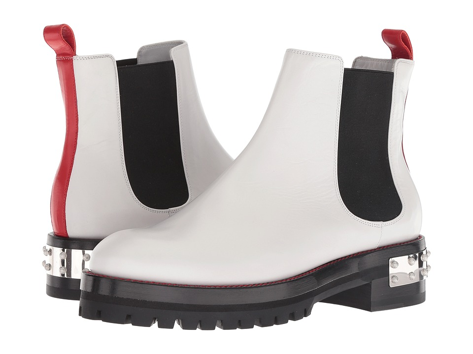 Alexander McQueen Mod Boot (White/Lust Red/Black) Women's Shoes