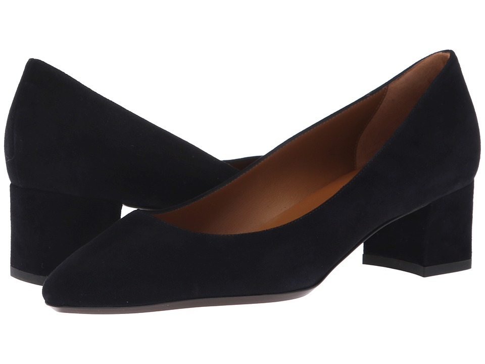Aquatalia Pasha (Navy Dress Suede) Women's Shoes