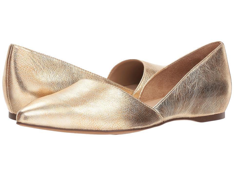 Vintage Style Shoes, Vintage Inspired Shoes Naturalizer Samantha Gold Womens Flat Shoes $89.00 AT vintagedancer.com