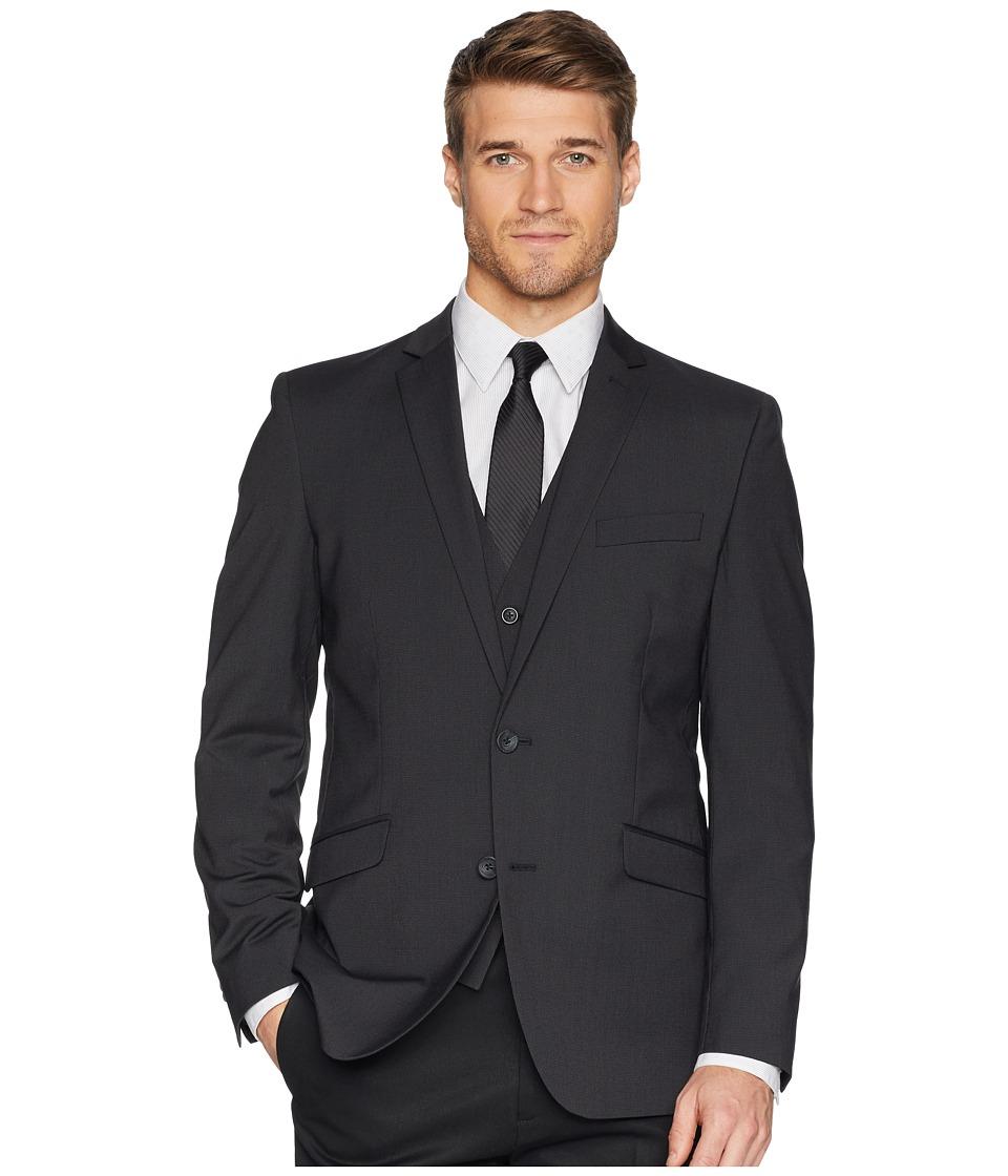 Kenneth Cole Reaction Techni-Cole Stretch Suit Separate Blazer (Grey/Black Check) Men