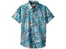 VISSLA Kids Tropical Maui Short Sleeve Woven Top (Big Kids)